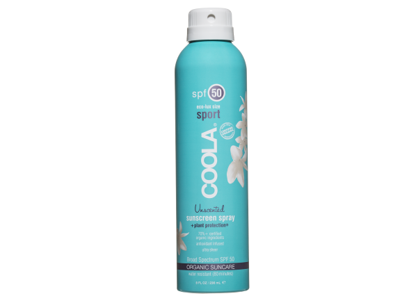Coola Sport Spray SPF 50 Unscented sunscreen