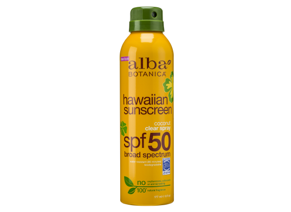 Alba Botanica Hawaiian Coconut Clear Spray SPF 50 sunscreen