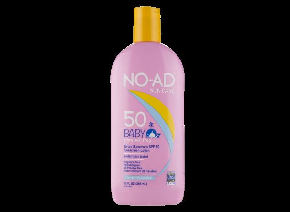 No-Ad Baby Lotion SPF 50 sunscreen