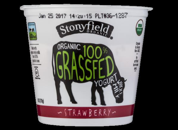 Stonyfield Organic 100% Grassfed Strawberry Whole Milk Yogurt