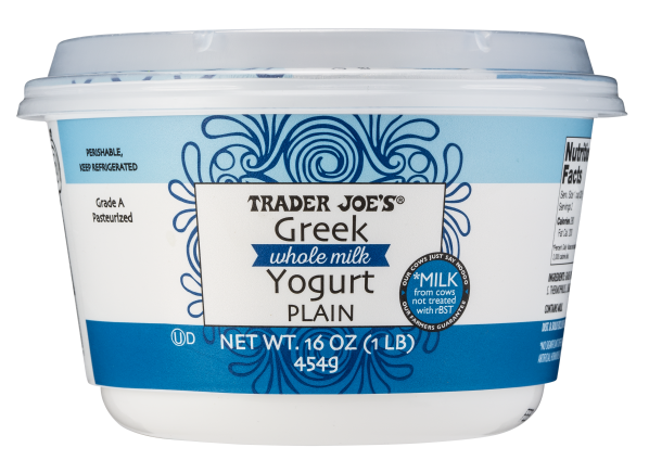 Image result for trader joe's plain greek yogurt nutrition