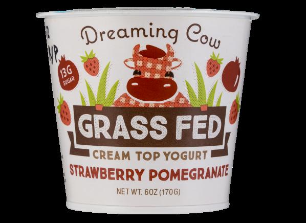 Dreaming Cow Grass Fed Strawberry Pomegranate Cream Top Yogurt
