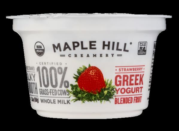 Maple Hill Creamery 100% Grass Fed Organic Strawberry Whole Milk Greek Yogurt