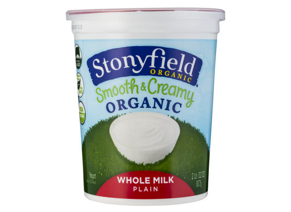 Stonyfield Organic Smooth & Creamy Plain Whole Milk Yogurt