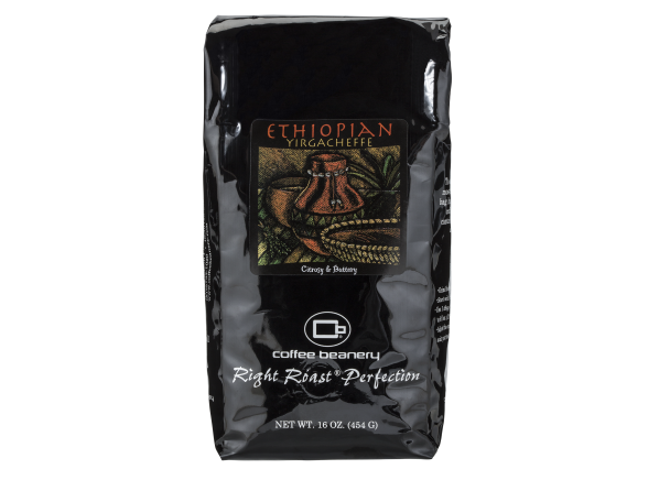 Coffee Beanery Ethiopian Yirgacheffe coffee