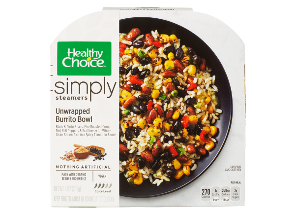 Healthy Choice Simply Steamers Unwrapped Burrito Bowl frozen food