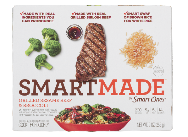 Smart Ones SmartMade Grilled Sesame Beef & Broccoli frozen food