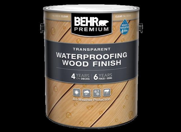 Behr Premium Transparent Waterproofing Wood Finish (Home Depot)