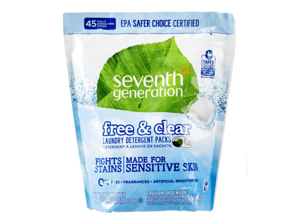 Seventh Generation Free & Clear Packs Sensitive Skin laundry detergent