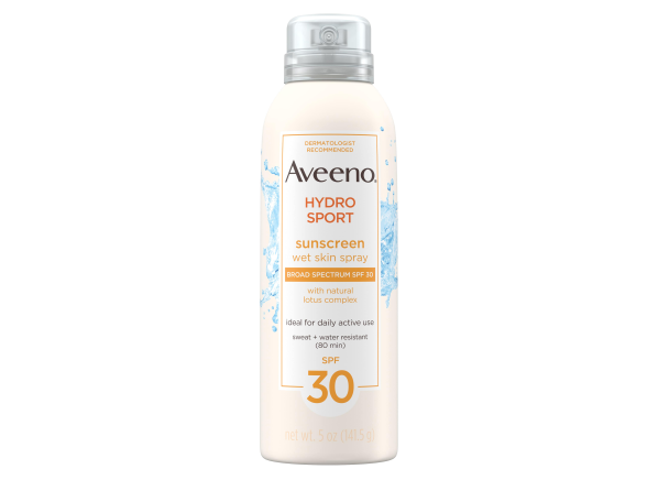Aveeno Hydrosport Wet Skin Spray SPF 30 sunscreen
