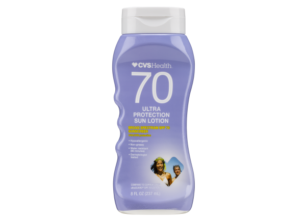 CVS Health Ultra Protection Sun Lotion SPF 70 sunscreen