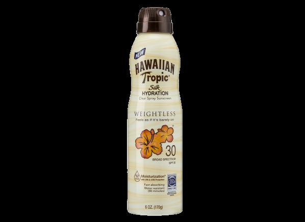 Hawaiian Tropic Silk Hydration Weightless Clear Spray SPF 30 sunscreen