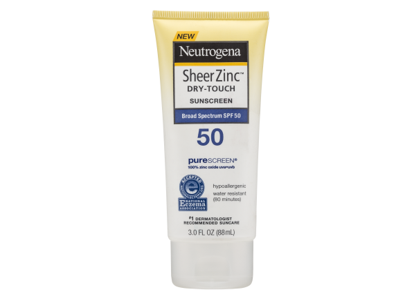 Neutrogena Sheer Zinc Dry-Touch Lotion SPF 50 sunscreen