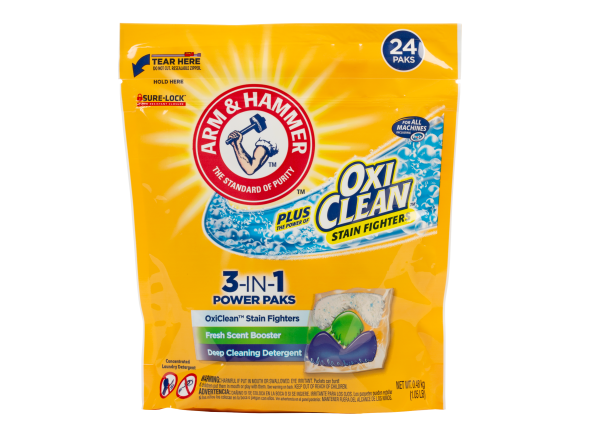 Arm & Hammer Plus OxiClean 3-in-1 Power Paks laundry detergent
