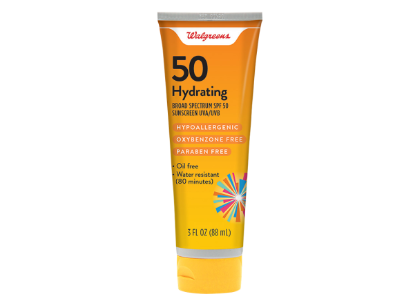 Walgreens Hydrating Lotion SPF 50 sunscreen