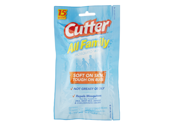 Cutter All Family Mosquito Wipes insect repellent