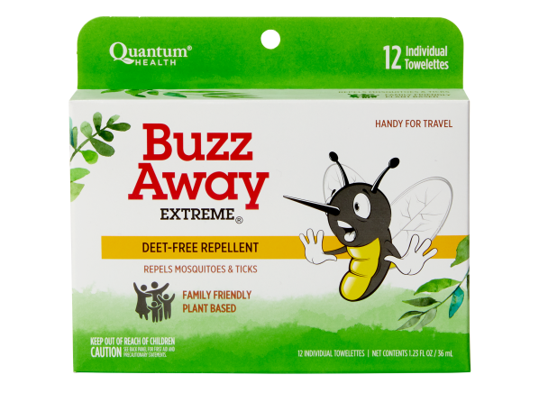 Buzz Away Extreme DEET FREE Repellent Towelettes