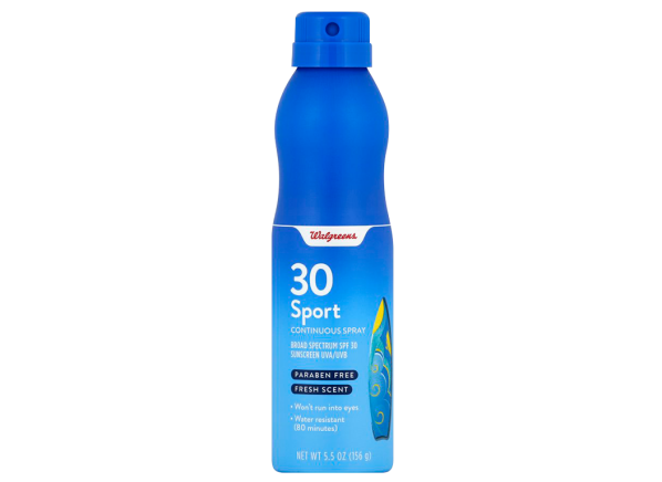 Walgreens Sport Continuous Spray SPF 30 sunscreen