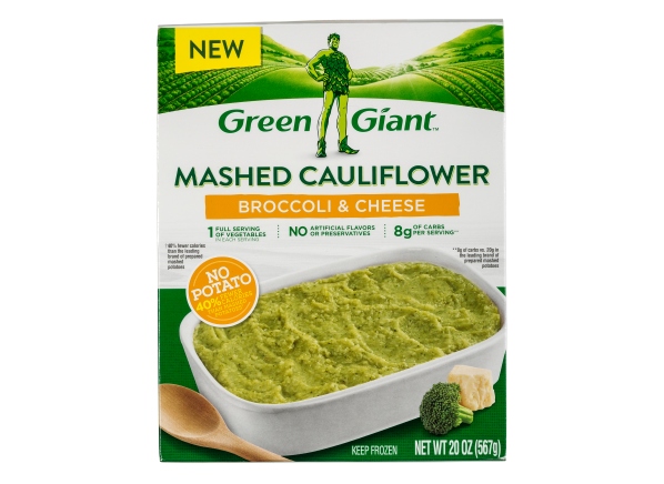 Green Giant Mashed Cauliflower Broccoli & Cheese frozen food
