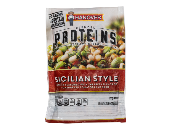 Hanover Blended Proteins Steam-in-Bag Sicilian Style frozen food