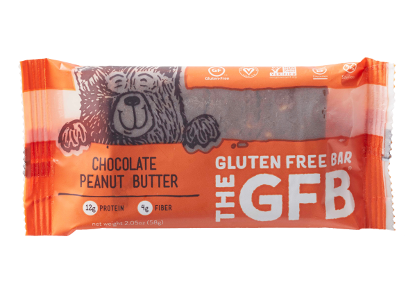 The GFB: Gluten Free Bar Chocolate Peanut Butter healthy snack