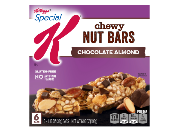 Kellogg's Special K Nourish Chewy Nut Bar Chocolate Almond healthy snack