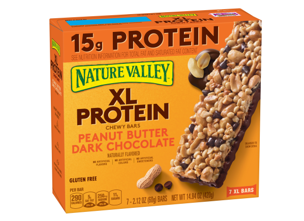 Nature Valley XL Protein Chewy Bars Peanut Butter Dark Chocolate healthy snack