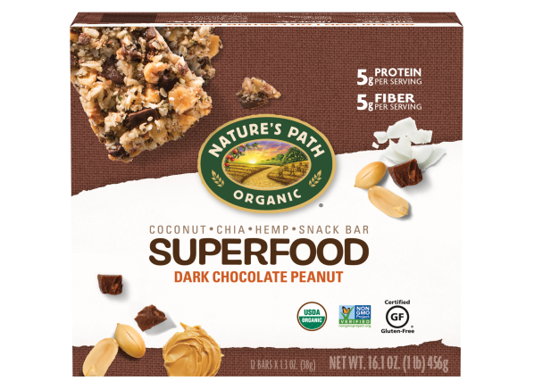 Nature's Path Organic Superfood Dark Chocolate Peanut Snack Bar