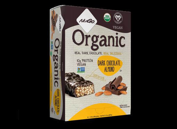 NuGo Organic Dark Chocolate Almond Protein Bar healthy snack