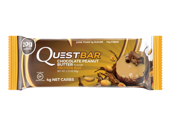 Quest Chocolate Peanut Butter Protein Bar healthy snack