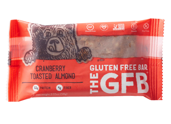 The GFB: Gluten Free Bar Cranberry Toasted Almond healthy snack