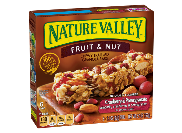 Nature Valley Trail Mix Cranberry & Pomegranate Chewy Granola Bar healthy snack