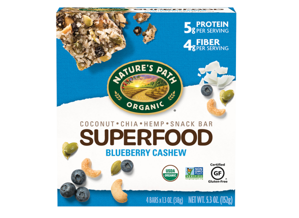 Nature's Path Organic Superfood Blueberry Cashew Snack Bar