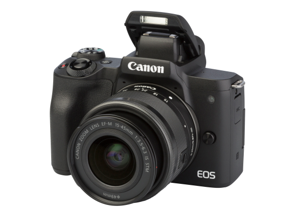 Canon EOS M50 w/EF-M 15-45mm IS STM camera