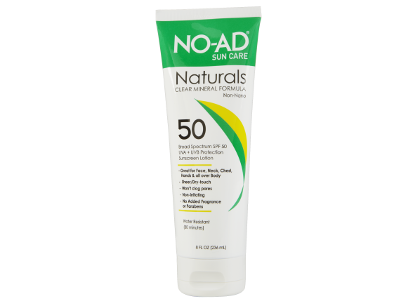 No-Ad Naturals Clear Mineral Lotion SPF 50 sunscreen