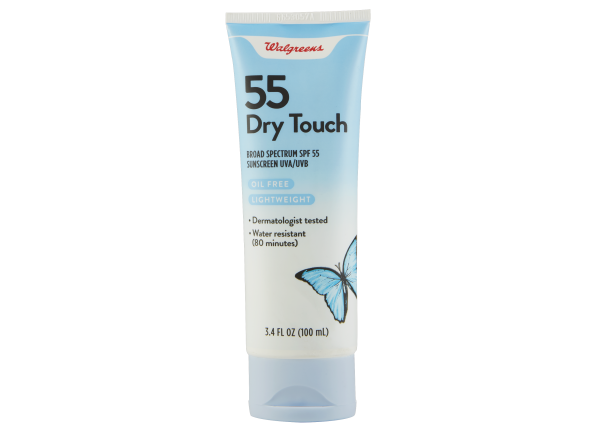 Walgreens Dry Touch Lotion SPF 55 sunscreen