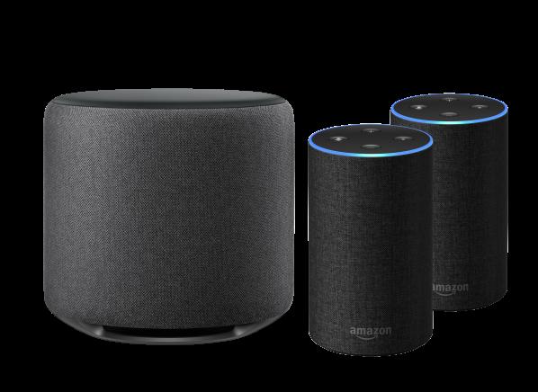 Amazon Echo Sub Bundle w/ 2 Echo (2nd Gen) smart speaker