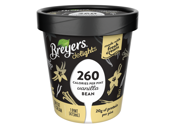 Breyers Delights Lowfat Ice Cream Vanilla Bean