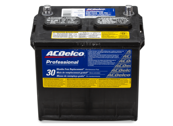 Ac Delco Battery Size Chart