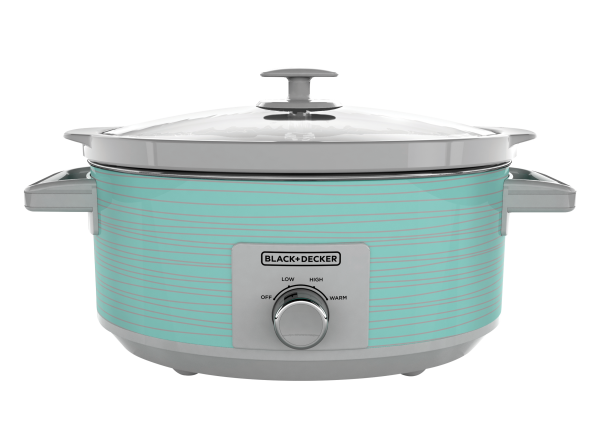 Black+Decker Teal Wave 7 Qt, Dial Control SC2007D slow cooker