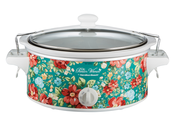 Pioneer Woman 6 Quart Portable Vintage Floral 33362 slow cooker