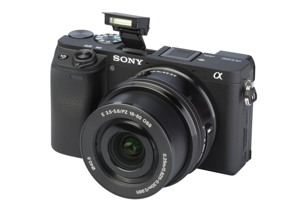 Sony Alpha A6400 w/ E PZ 16-50mm camera