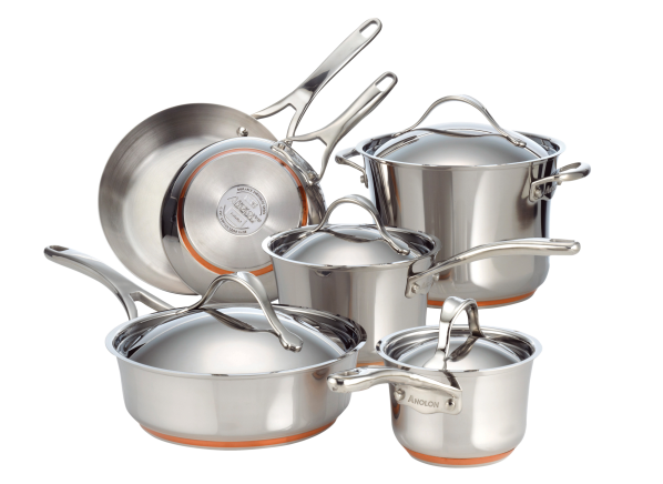 Anolon Nouvelle Copper Stainless Steel cookware
