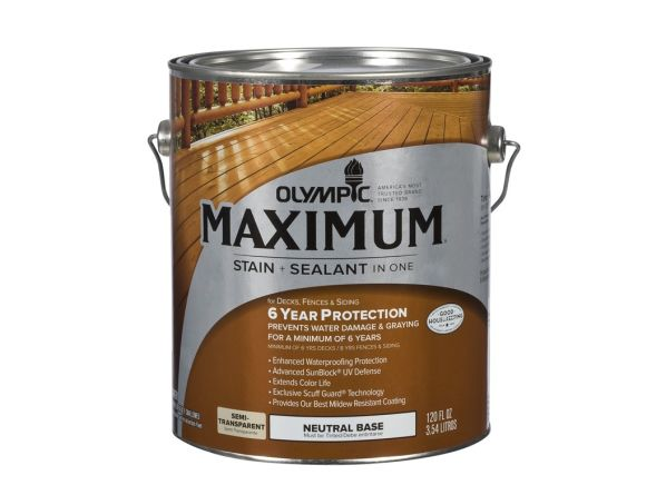 Olympic Maximum Semi Transparent Wood Stain Consumer Reports