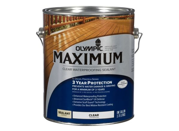 Olympic Maximum Sealant wood stain