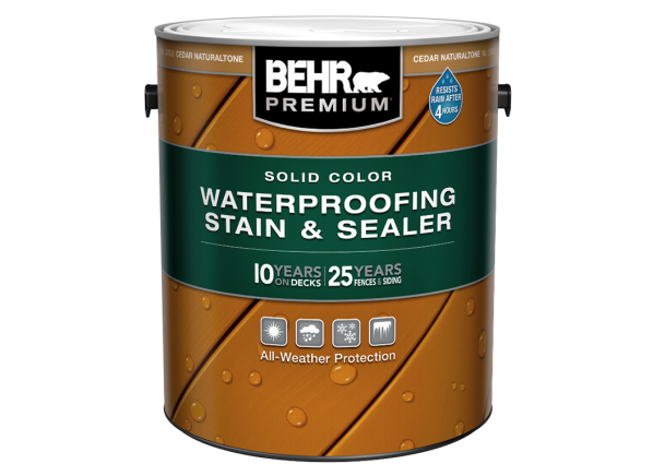 Behr Premium Solid Color Waterproofing Stain & Sealer (Home Depot)