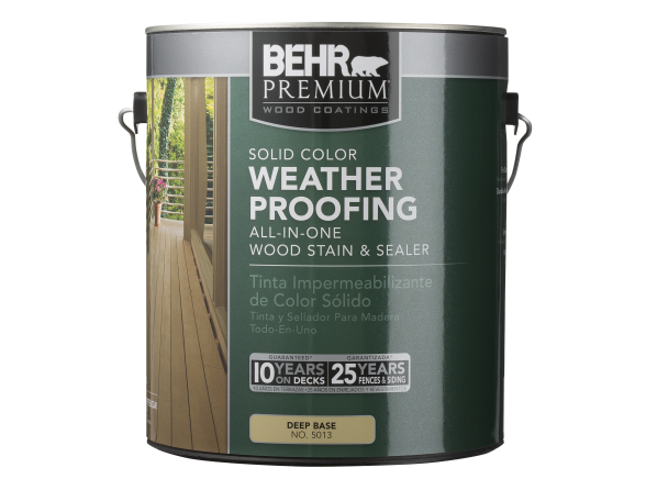 Behr Premium Solid Color Waterproofing Wood Stain Home Depot