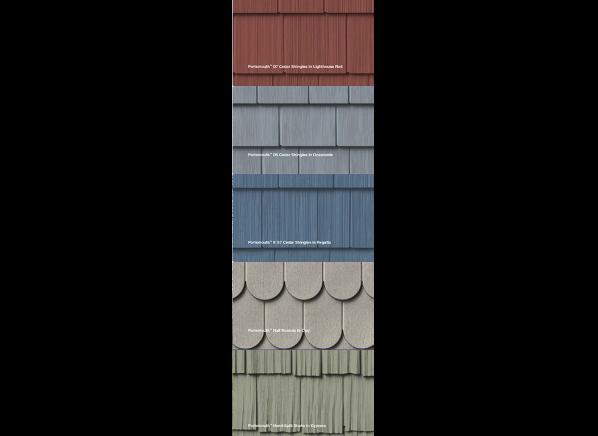 Exterior Portfolio by Crane Portsmouth 8 foot Long Length Cedar Shake siding