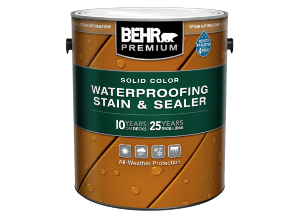 Behr Premium Solid Color Waterproofing Stain Sealer Home Depot Consumer Reports
