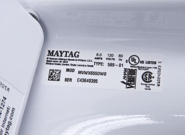 Maytag Bravos Mvwx655dw Washing Machine Consumer Reports